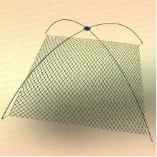 Подъемник для рыбалки Kippik 2,0 м х 2,0 м, дуги 6 мм без сетки, без крестовины