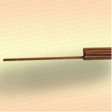 Пруток для оснащения экрана, косынки, 4 мм, длина 1,2 м, крашеный
