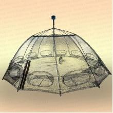 Раколовка зонт 12 входов с ручкой