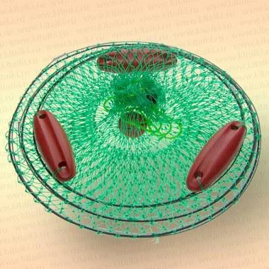 Садок для рыбы с поплавками, диаметр садка 45 см
