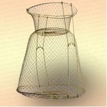 Садок рыболовный, металлический диаметр 38 см со стойками