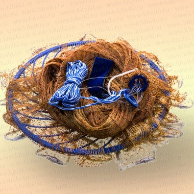 Кастинговая сеть с большим пластиковым кольцом, R=2,1м, ячея 14-16 мм, капрон