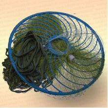Кастинговая сеть, капрон, американский тип, ячея 20 мм, с большим кольцом диаметр 3,0 м, радиус 1,5 м