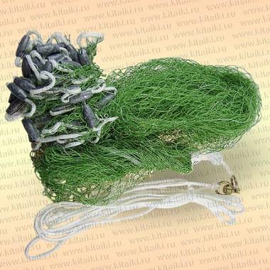 Кастинговая сеть, капрон, американский тип, ячея 20 мм диаметр 2,4 м, радиус 1,2 м