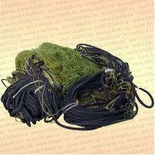 Сеть трехстенная профессиональная: капрон 29т*2, высота 1,8 м, длина 30 м, шнуры 9/50 гр/м ячея 30 мм
