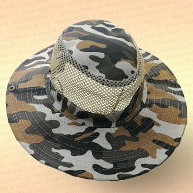 Шляпа для рыбалки, сетка, НАТО коричневый