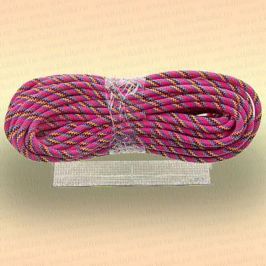 Шнур плетеный универсальный 20 м, диаметр 12 мм, розовый