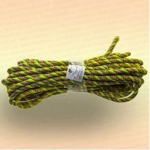 Шнур плетеный универсальный 20 м, диаметр 12 мм, жёлтый