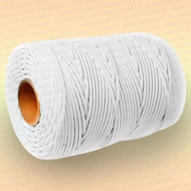Шнур плетеный Стандарт, на бобине 300 м, диаметр 6,0 мм, белый