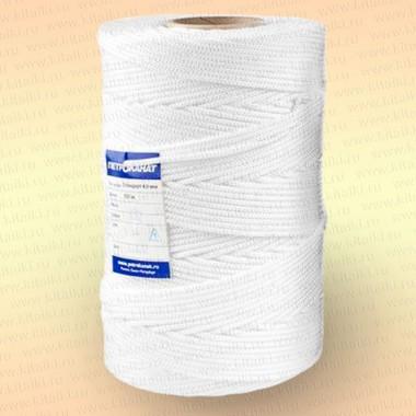 Шнур плетеный Стандарт, на бобине 500 м, диаметр 2,0 мм, цвет белый