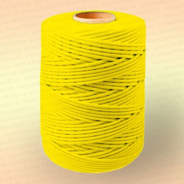 Шнур плетеный Стандарт, на бобине 500 м, диаметр 1,2 мм, желтый