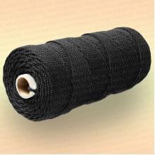 Шнур плетеный Стандарт, на бобине 20 м, диаметр 2,0 мм, черный