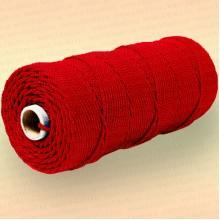 Шнур плетеный Стандарт, на бобине 150 м, диаметр 2,0 мм, красный