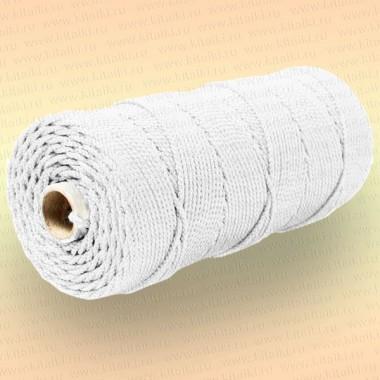 Шнур плетеный Стандарт, на бобине 200 м, диаметр 1,8 мм, белый