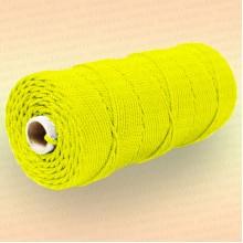 Шнур плетеный Стандарт, на бобине 150 м, диаметр 2,0 мм, желтый
