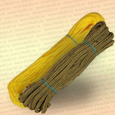 Линь плавающий, в европакете, круглый 6 мм, 25 м, ярко-желтый
