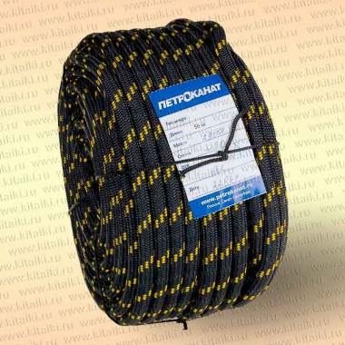 Шнур якорный, плетеный, 10,0 мм, 30 м, черн./зел., в европакете