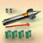 Набор: торпеда, шнур, 8 батареек, 2 лампочки, колеса, амортизатор, Стандартные лампы