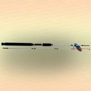 Спиннинг штекерный CROCODILE 2-х секционный 1,65 м, тест 100-250 гр