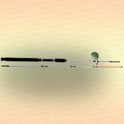 Спиннинг штекерный CROCODILE 2-х секционный 1,80 м, тест 100-250 гр