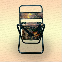 Стул со спинкой складной, с сумкой, цвет - камуфляж