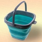 Складное ведро для рыбалки, квадратное, голубое, 5 литров