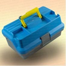 Ящик рыболовный, с подъемными полками, фонариком, голубой