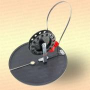 Жерлица неоснащенная, D=200 мм, катушка 90 мм, стойка алюминий