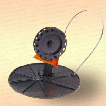Жерлица неоснащенная, D=200 мм, катушка 90 мм, стойка пластик