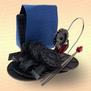Жерлицы на щуку, оснащенные в сумке 5 шт, катушка 63 мм, стойка алюминиевая