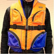 Спасательный жилет Франкарди двухцветный с карманами, грузоподъемность 110 кг, размер 48-52, XL