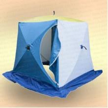 Палатка для зимней рыбалки Стэк Куб 1,8х1,8х1,9 м, 2-местная, бело-синяя